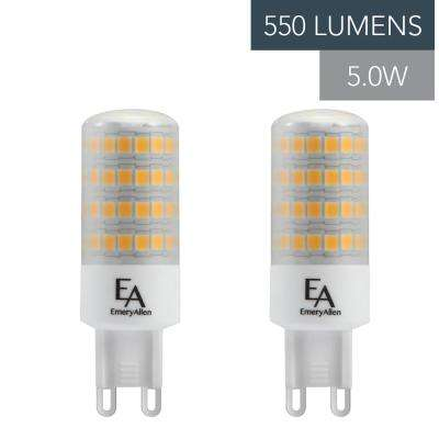60-Watt Equivalent G9 Base Dimmable 2700K LED Light Bulb Warm White (2-Pack)