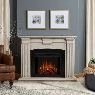 Adelaide 51 in. Electric Fireplace in Dry Brush White