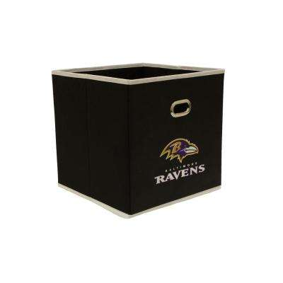 Baltimore Ravens NFL Store-Its 10-1/2 in. W x 10-1/2 in. H x 11 in. D Black Fabric Drawer