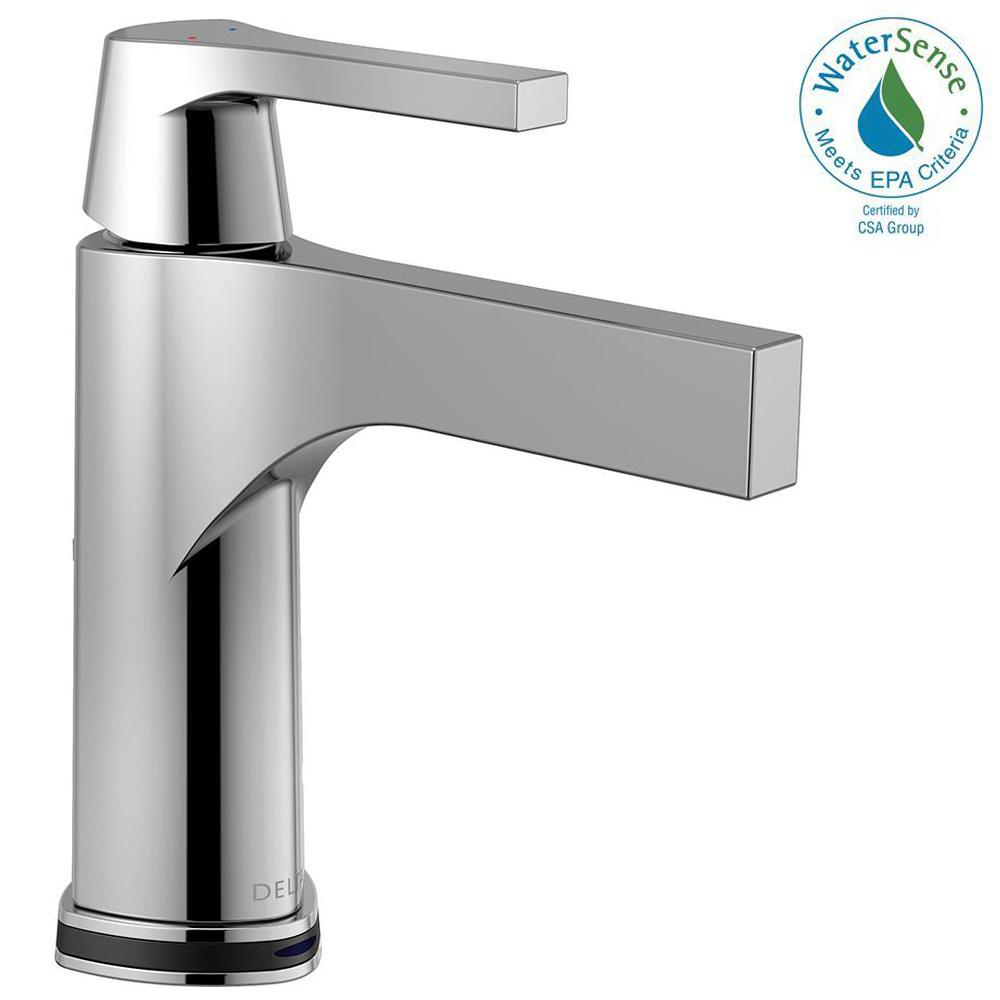 Zura Single Hole Single-Handle Bathroom Faucet with Touch2O.xt Technology in