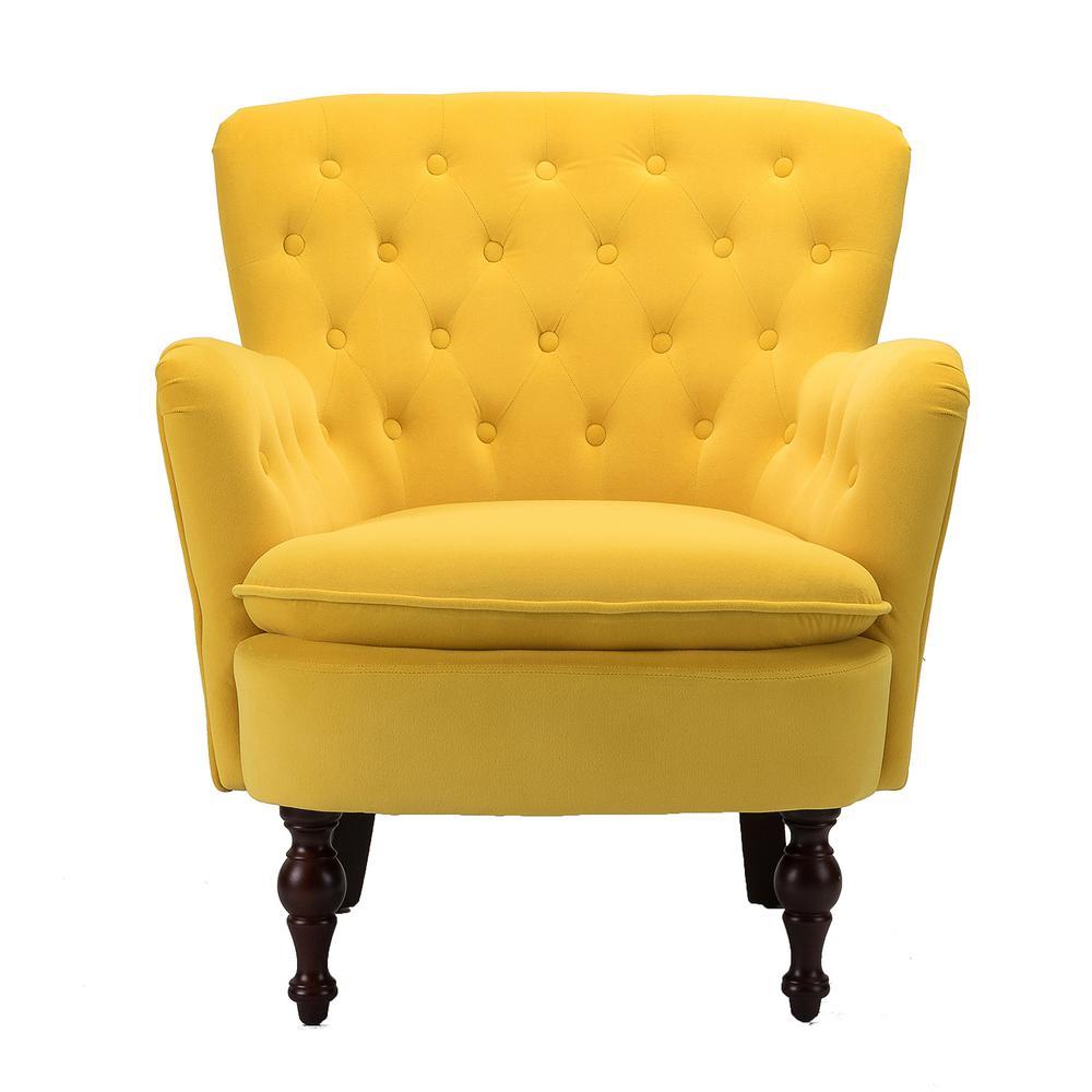 Boyel Living Mustard Yellow Antique Accent Single Sofa Comfy