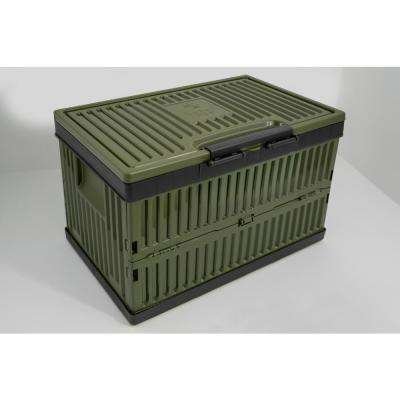 Foldable 37 Quart Cooler and Crate-Green