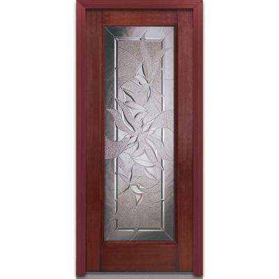 32 in. x 80 in. Lasting Impressions Decorative Glass Full Lite Finished Mahogany Fiberglass  sc 1 st  The Home Depot & Mahogany - Doors With Glass - Fiberglass Doors - The Home Depot