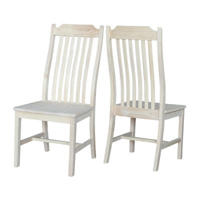 Unfinished Wood Steam Bent Mission Dining Chair (Set of 2)