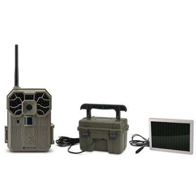 GXW Wireless 12 MP Scouting Camera with 12-Volt Battery Box and 12-Volt Solar Panel