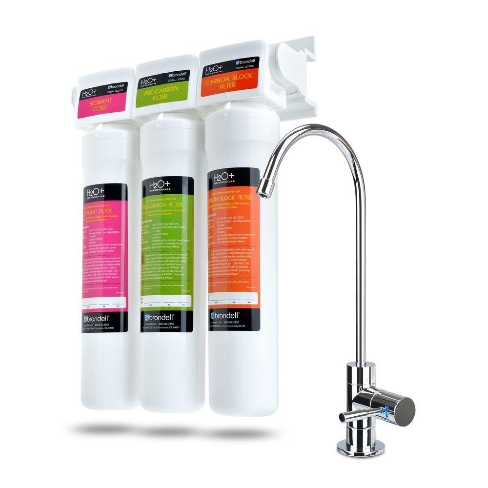 Coral 3-Stage Under Counter Water Filtration System with Over 99% Lead
