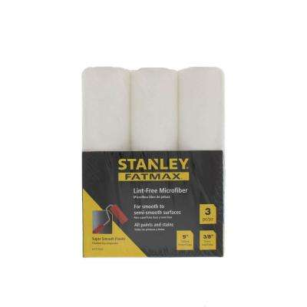 9 in. x 3/8 in. High-Density Microfiber Roller Cover (3-Pack)
