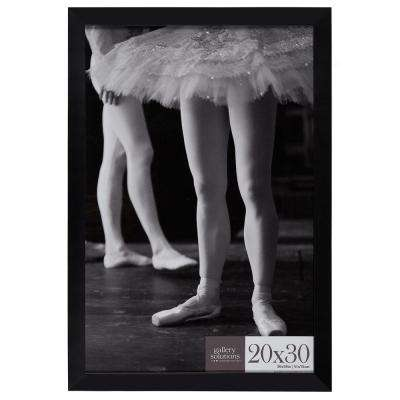20 in. x 30 in. Black Flat Picture Frame