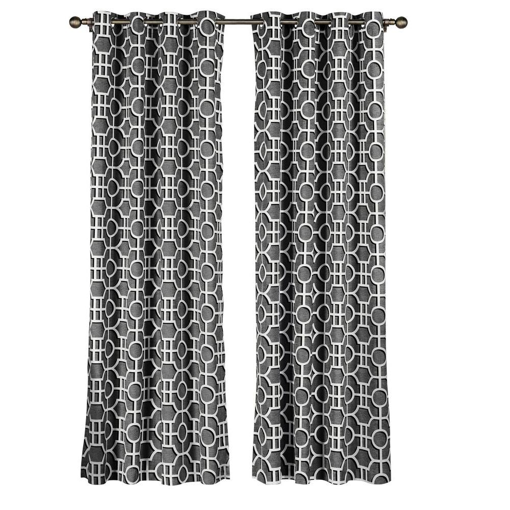 Semi-Opaque Lenox 100% Cotton Extra Wide 96 in. L Grommet Curtain