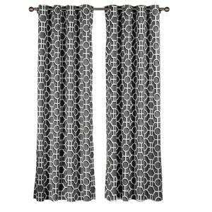 Creative Home Ideas Semi-Opaque Lenox 100% Cotton Extra Wide 96 inch L Grommet Curtain Panel Pair, Charcoal (Set of 2) by Creative Home Ideas
