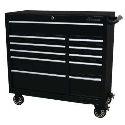 41 in. 11-Drawer Tool Box in Black