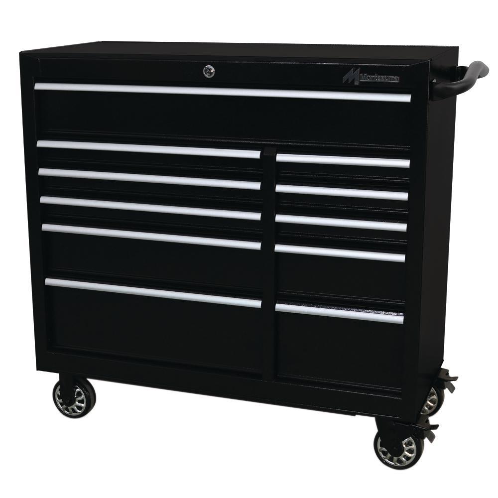 41 in. 11-Drawer Tool Box in Black