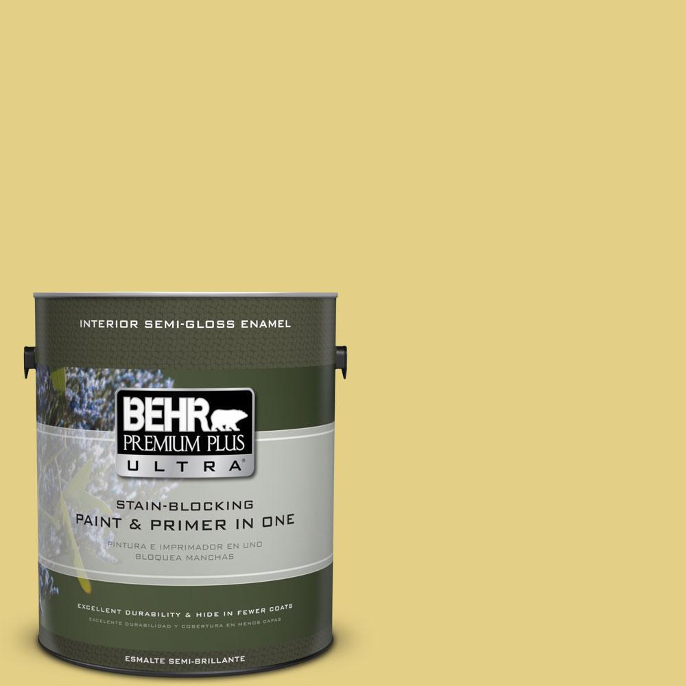 BEHR Premium Plus Ultra 1-gal. #P330-4 Starfruit Semi-Gloss Enamel Interior Paint