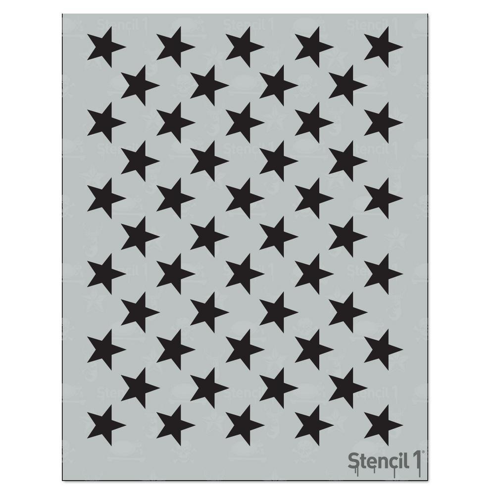 50 Stars Stencil