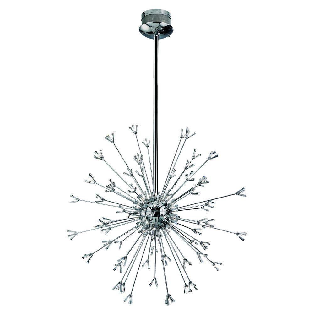 Eurofase Lenka Collection 90-Light Chrome Chandelier