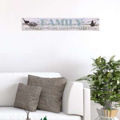 Sentimental Family Wood Sign
