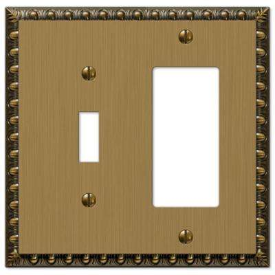 Renaissance 1 Toggle and 1 Decora Wall Plate - Brushed Brass