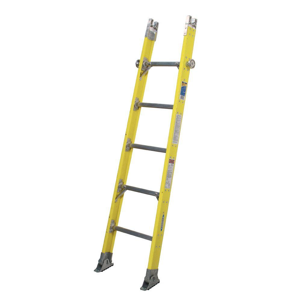Werner 6 Ft Fiberglass Tapered Sectional Ladder With 375
