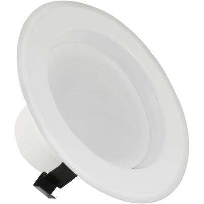 50W Equivalent Warm White 4 in. White Baffle-Trim Recessed Retrofit Downlight Dimmable LED Module (Case of 4)