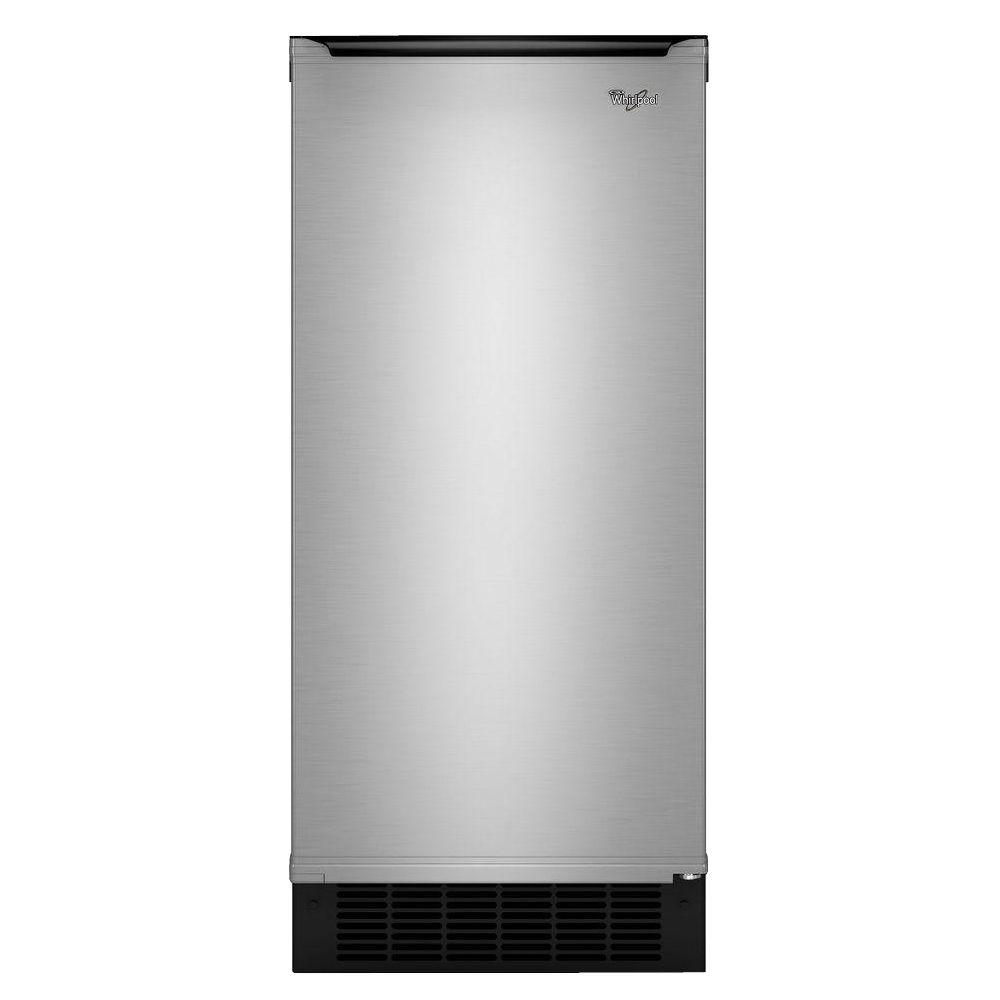 Whirlpool 15 in. 50 lb. Built-In Ice Maker in Stainless Steel