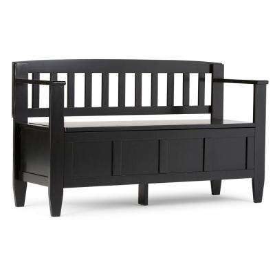 Brooklyn Black Storage Bench