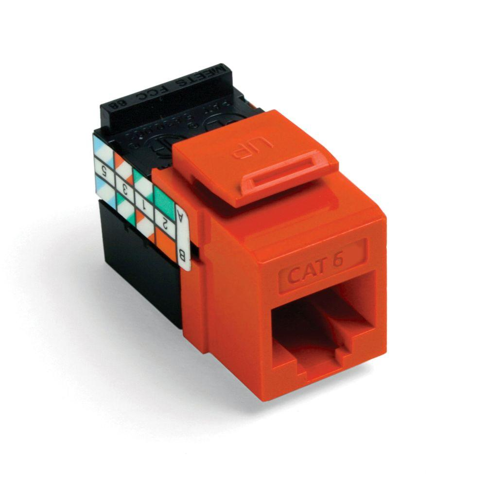 Cat6 Quickport Jack - Orange