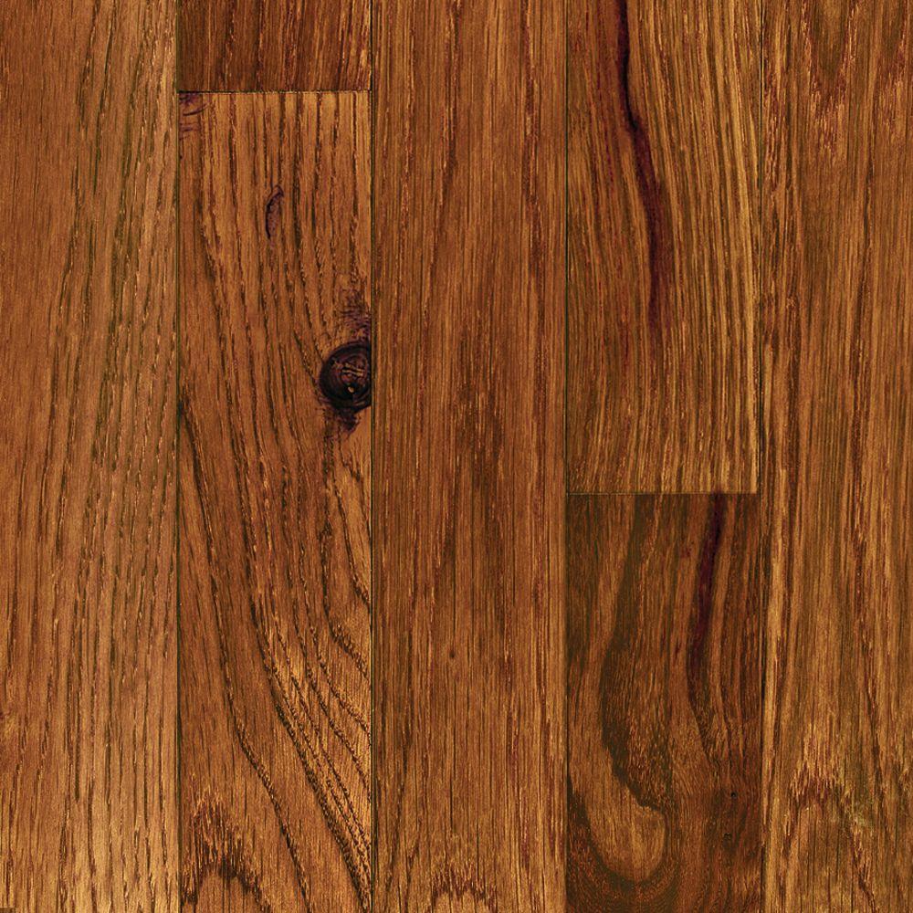 Millstead Take Home Sample - Oak Gunstock Solid Hardwood Flooring - 5 in. x 7 in.