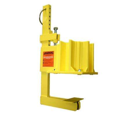 1 Unit Yellow OSHA Compliant Non-Penetrating Guardrail Clamp with Safety Boot Guardrail Base Attached