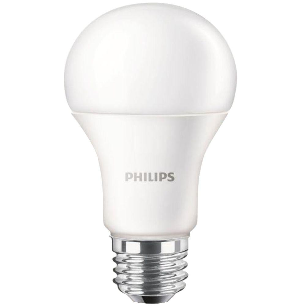 philips 100w equivalent daylight a19 led light bulb 455717 the home depot. Black Bedroom Furniture Sets. Home Design Ideas