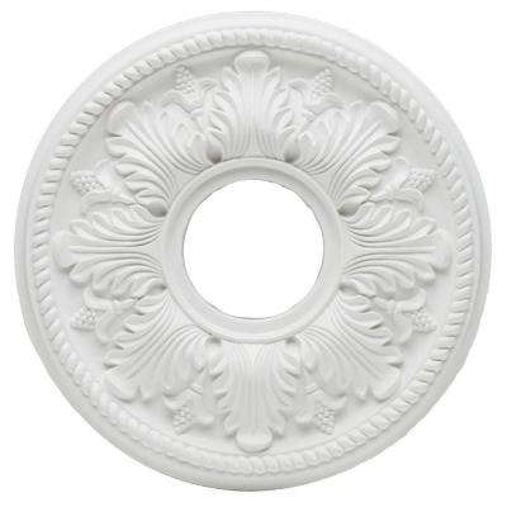 14 in White Bellezza Ceiling Medallion