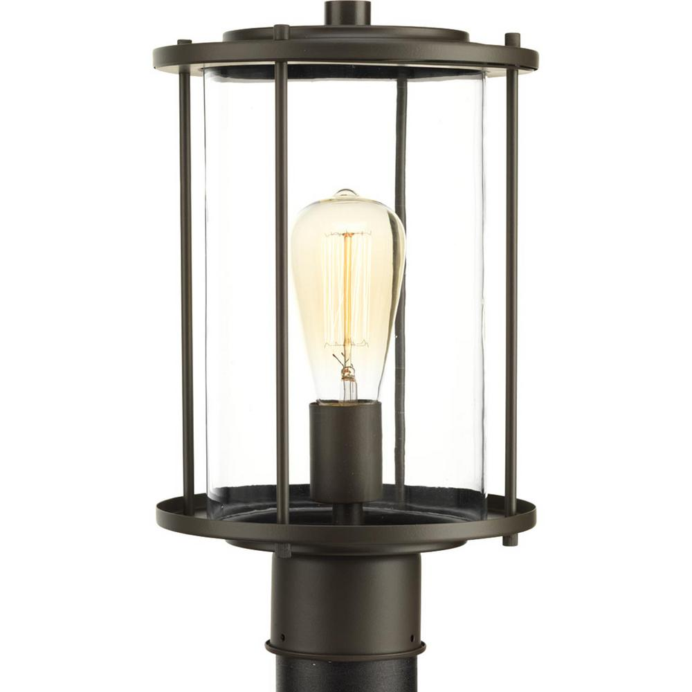 Gunther Collection 1-Light Outdoor Antique Bronze Post Lamp