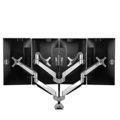 Premier 4 Arms Gas Spring Desk Monitor Mount LCD Arm Fits 10 in. - 27 in. Monitors