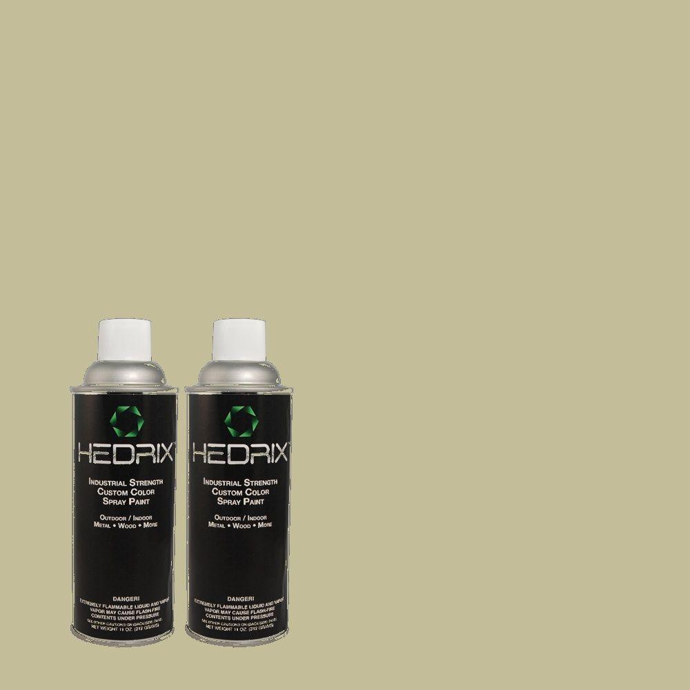 Hedrix 11 oz. Match of TH-69 Craftsman Moss Flat Custom Spray Paint (2-Pack)