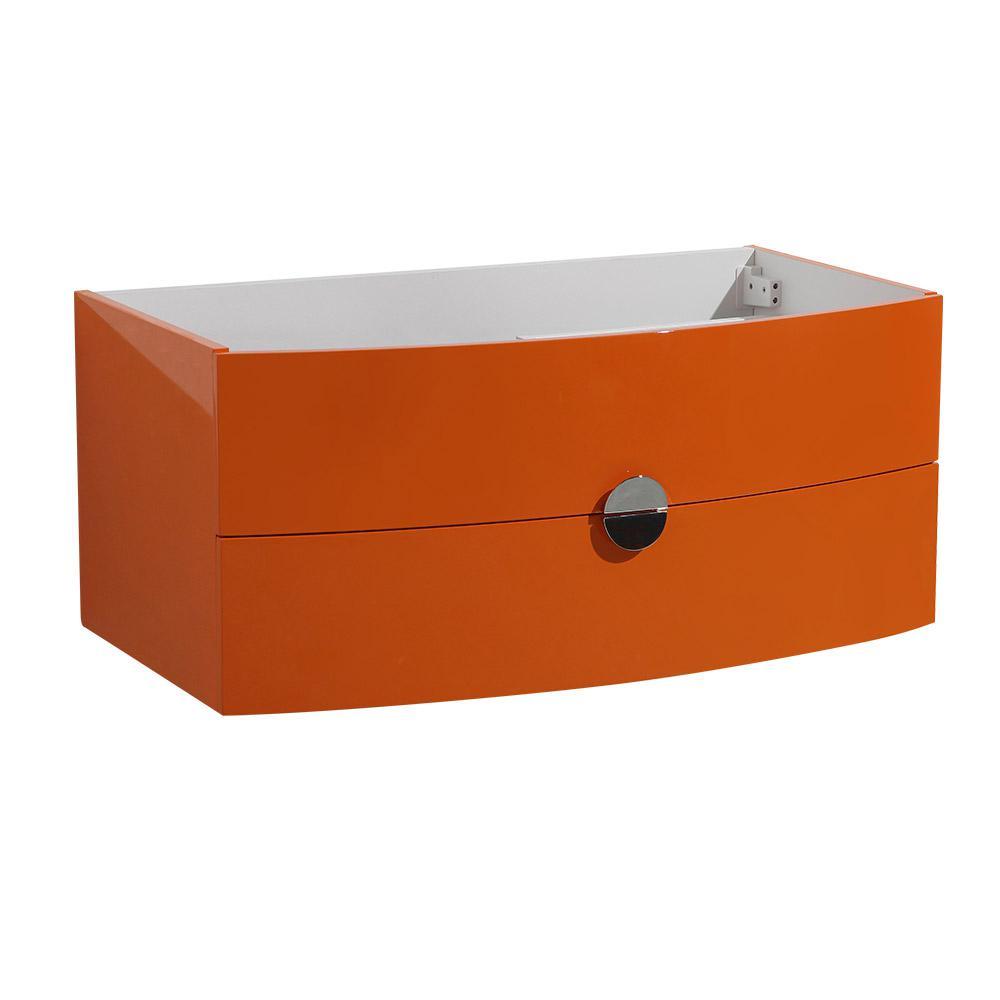Energia 36 in. Bathroom Vanity Caninet Only in Orange