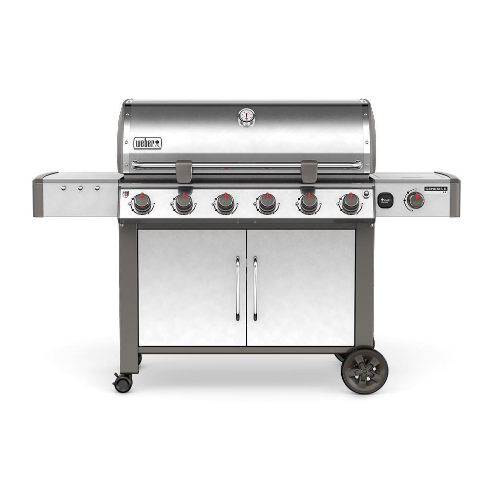 weber genesis ii lx s 640 6 burner natural gas grill in. Black Bedroom Furniture Sets. Home Design Ideas