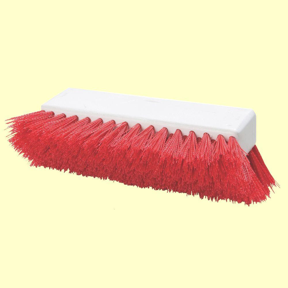 Carlisle Hi-Lo 10 inch Red Polypropylene Scrub Brush by Carlisle
