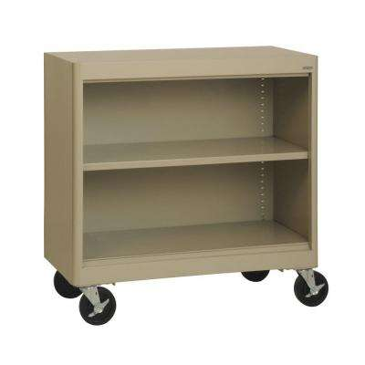 Radius Edge Tropic Sand Mobile Steel Bookcase