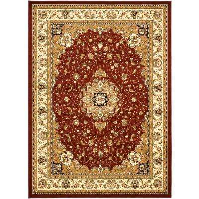 Lyndhurst Red/Ivory 5 ft. 3 in. x 7 ft. 6 in. Area Rug
