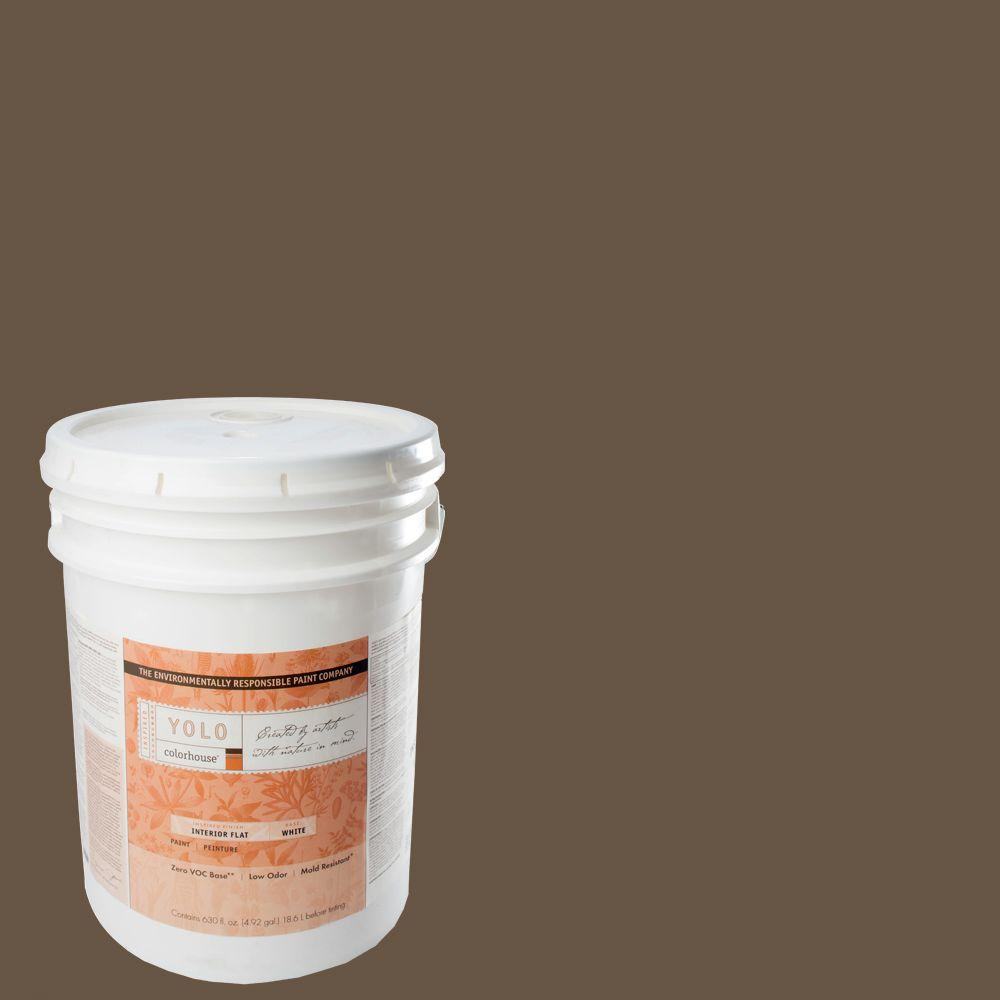 YOLO Colorhouse 5-gal. Clay .06 Flat Interior Paint-DISCONTINUED