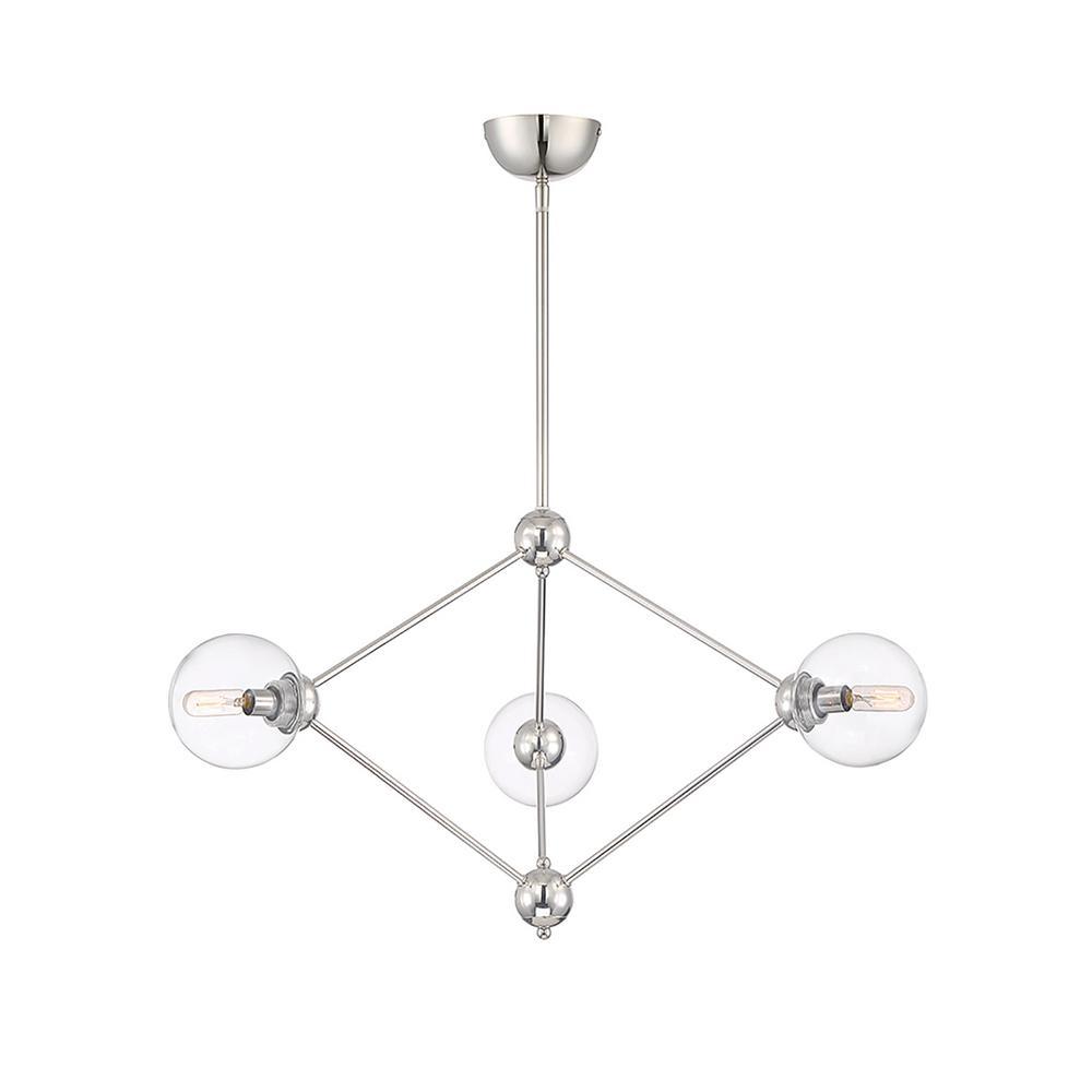 Filament Design 3-Light Polished Nickel Chandelier