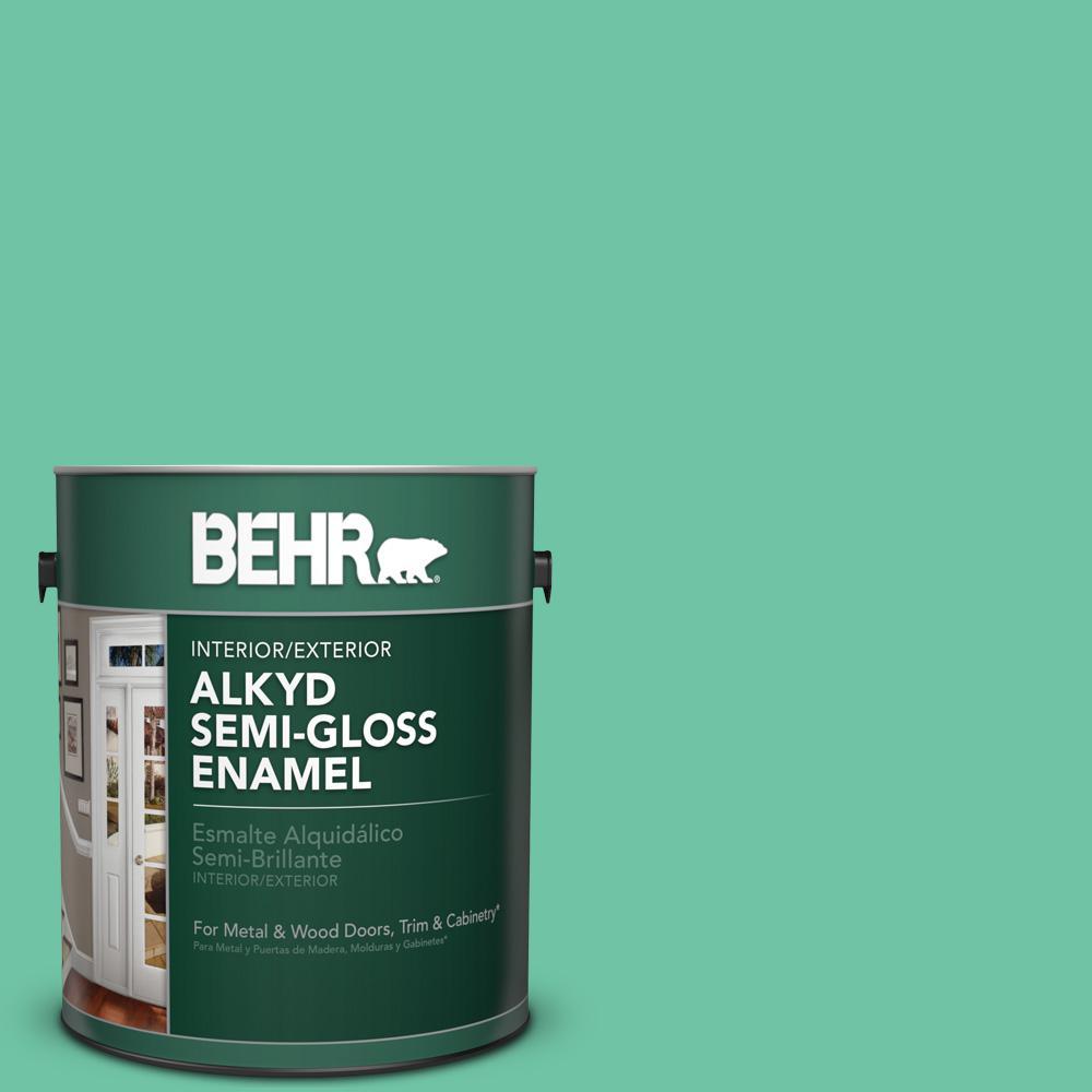 1 gal. #P420-4A Gem Silica Semi-Gloss Enamel Alkyd Interior/Exterior Paint