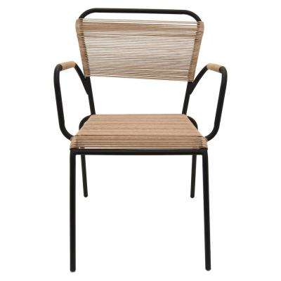 22.25 in. x 24 in. Brown Metal/Plastic Arm Chair