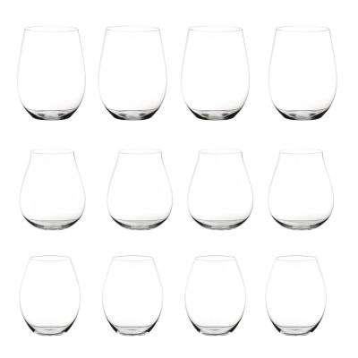 Big O 12-Piece Stemless Assorted Red Wine Glass Set