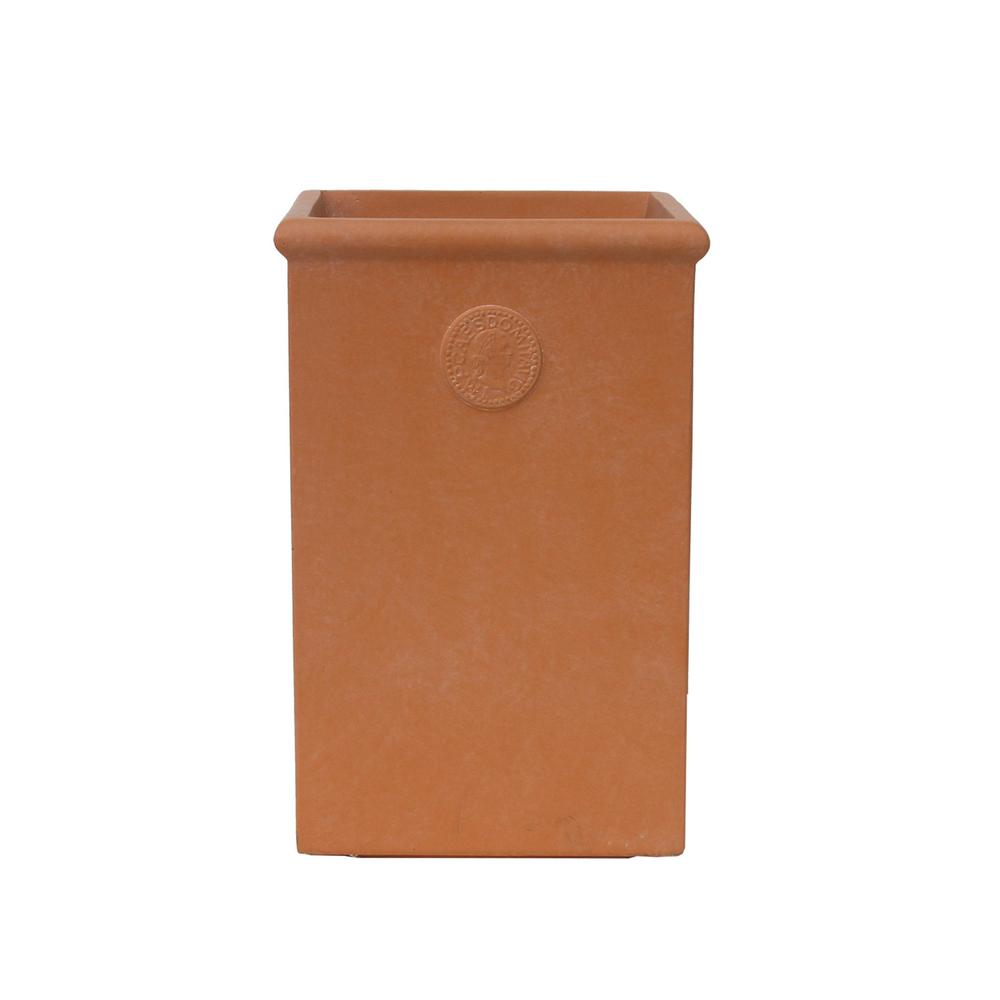 KANTE Small 18.5 in. Tall Terracota Lightweight Concrete Classic Tall Rectangle Planter