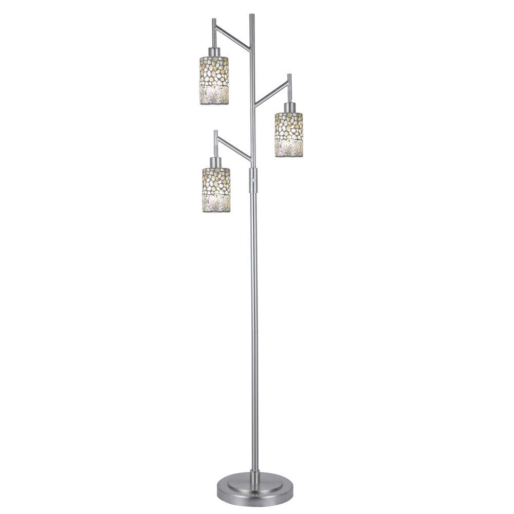 Dale Tiffany Alps Mosaic 68 In 3 Light Satin Nickel Floor Lamp