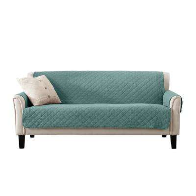 Laurina Collection Aqua Stonewashed Reversible Sofa Furniture Protector