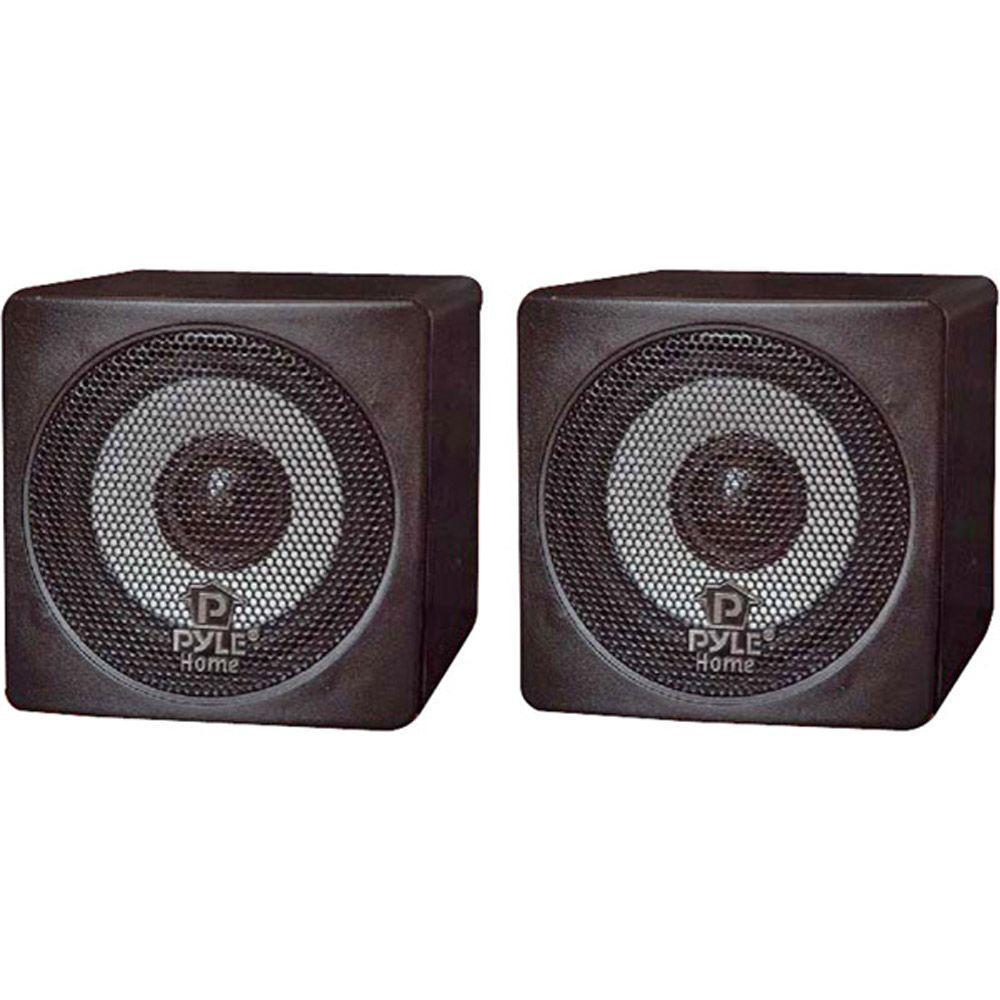 3 in. 100-Watt Mini Cube Speaker - Black