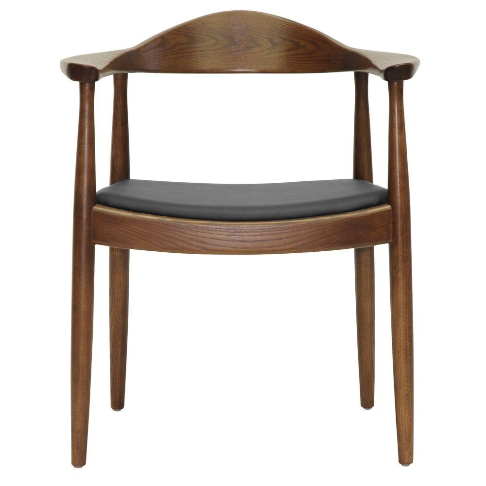 Embick Dark Brown Wood Dining Chair
