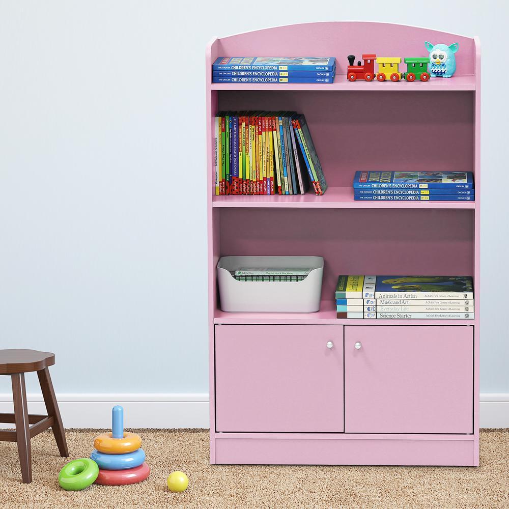 Furinno kidkanac pink storage cabinet bookshelf fr pk