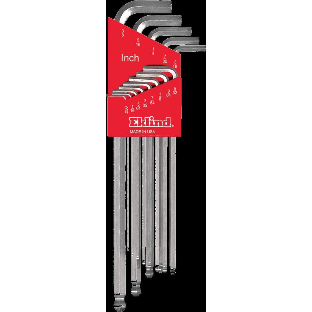 Eklind Tool Pack of 25 Eklind 15212 3//16 Long Series Hex-L Key,
